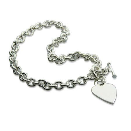 Designer Style Heavy Gauge Silver Heart Tag Necklace | Eve's Addiction®