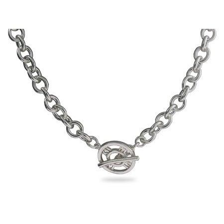 Designer Style Roman Numeral Toggle Necklace | Eve's Addiction®