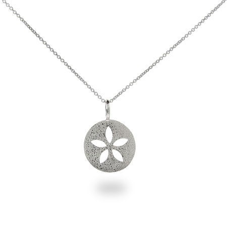 Sterling Silver Delicate Sand Dollar Necklace | Eve's Addiction®