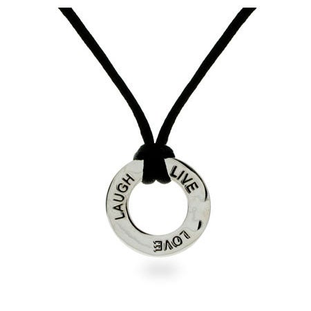 Live, Love, Laugh Sterling Silver Friendship Necklace