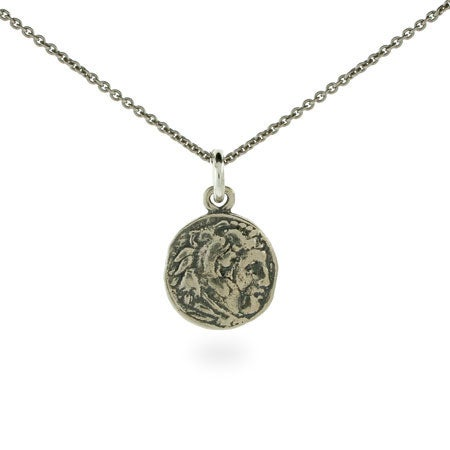 Calliope's Small Ancient Greek Sterling Silver Coin Necklace