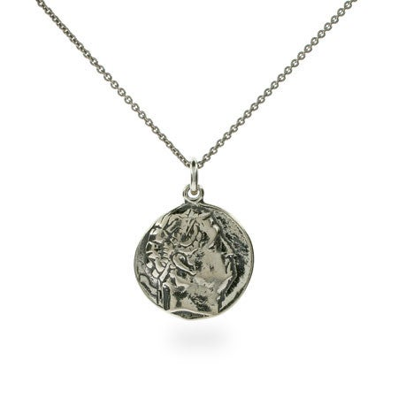 Cicero's Ancient Rome Sterling Silver Coin Necklace