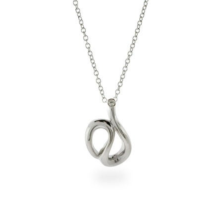 Designer Style Sterling Silver Wave Pendant | Eve's Addiction®