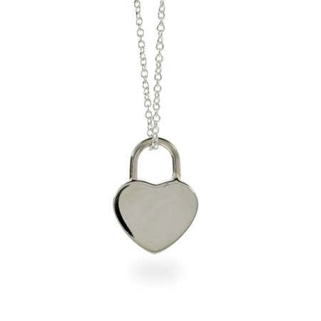Locked Heart Sterling Silver Pendant | Eve's Addiction®