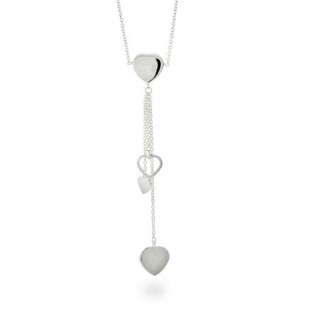 Designer Style Cascading Hearts Necklace | Eve's Addiction®