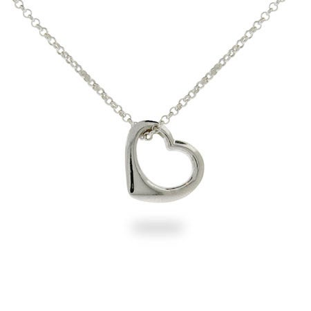 Small Sterling Silver Heart Necklace