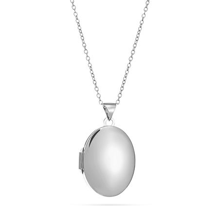 Engravable Sterling Silver Oval Locket
