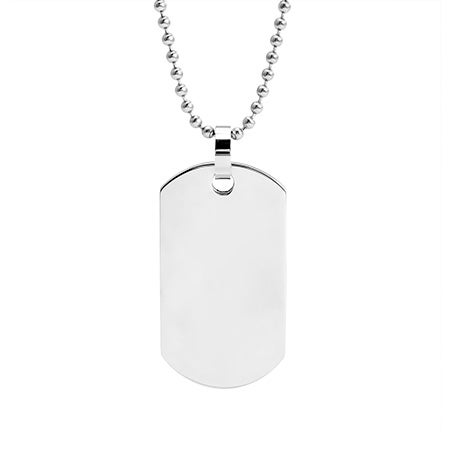 Stainless Steel Dog Tag Necklace   Eve's Addiction
