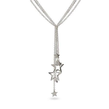 Multi Strand Star Drop Necklace | Eve's Addiction