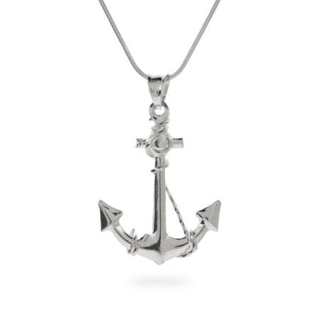 Ahoy! Sterling Silver Anchor Pendant | Eve's Addiction