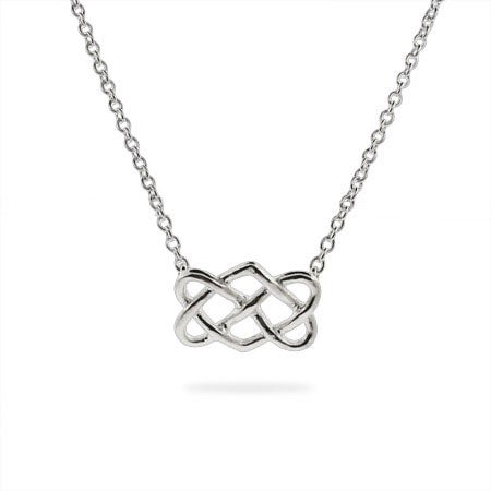 ornami ladies celtic chain silver dp with cm knot pendant curb