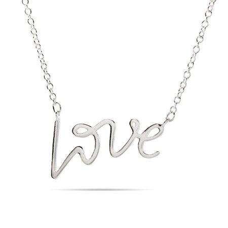 Designer Style Silver Love Necklace | Eve's Addiction®