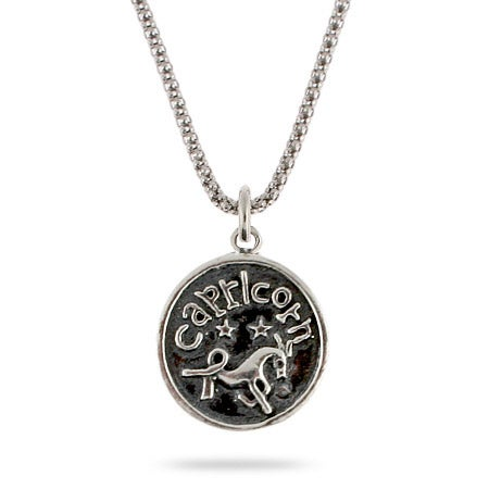 Capricorn Zodiac Sterling Silver Pendant | Eve's Addiction