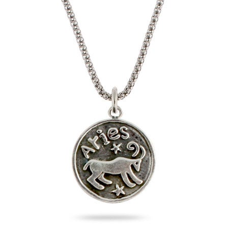 Aries Zodiac Sterling Silver Pendant | Eve's Addiction®