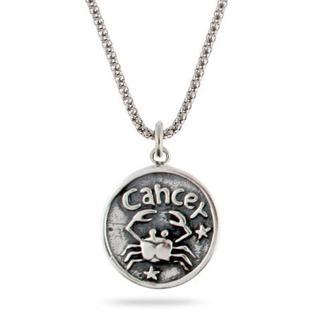 Cancer Zodiac Sterling Silver Pendant | Eve's Addiction®