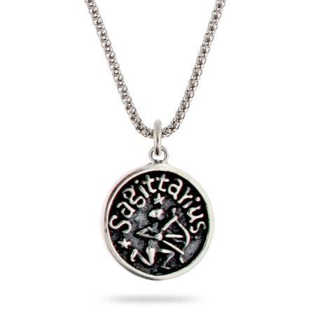 Sagottarius Zodiac Sterling Silver Pendant | Eve's Addiction