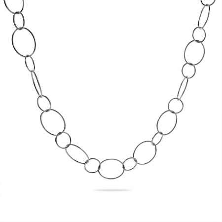 30 Inch Sterling Silver Circle Link Chain Necklace