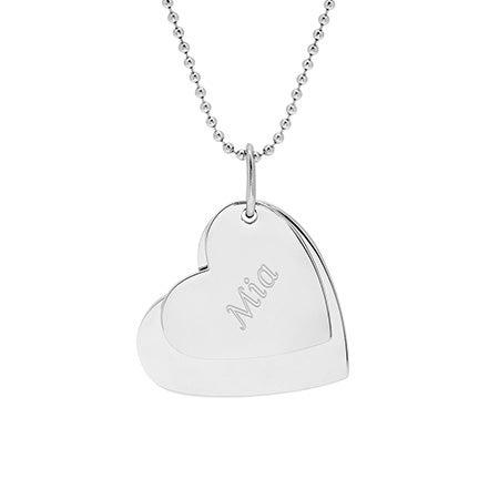 Secret Message Hearts Engravable Pendant | Eve's Addiction®