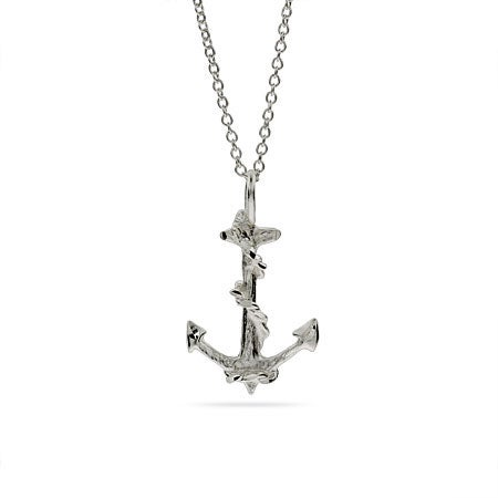 Sterling Silver Anchor Necklace | Eve's Addiction®
