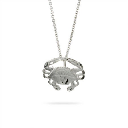 Sterling Silver Blue Crab Pendant | Eve's Addiction®