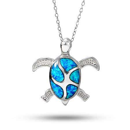 Blue Sea Turtle Necklace
