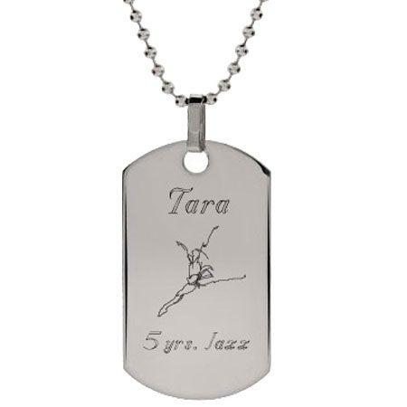 Dancer Dog Tag Necklace | Eve's Addiction®