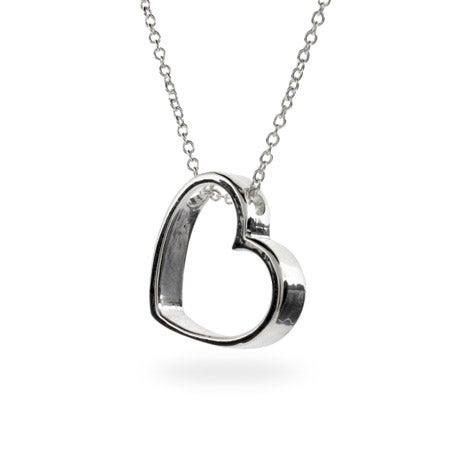 Designer Style Geometric Heart Necklace | Eve's Addiction
