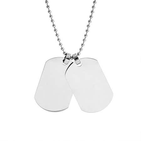Two Dog Tag Stainless Steel Necklace | Eve's Addiction®