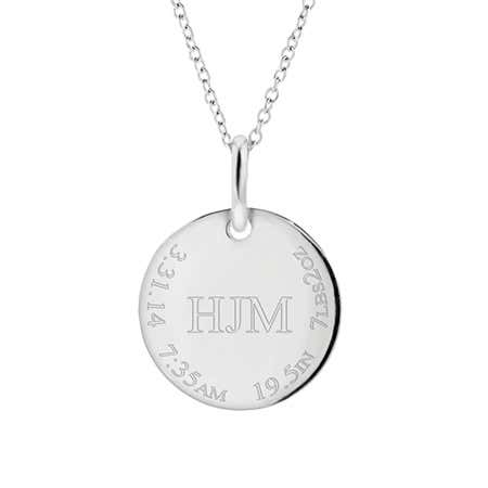 New Baby Engravable Mother Necklace