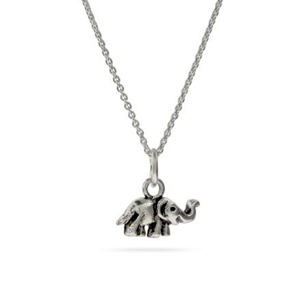 Kid's Sterling Silver Elephant Charm Pendant