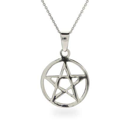 Sterling Silver Pentagram Pendant