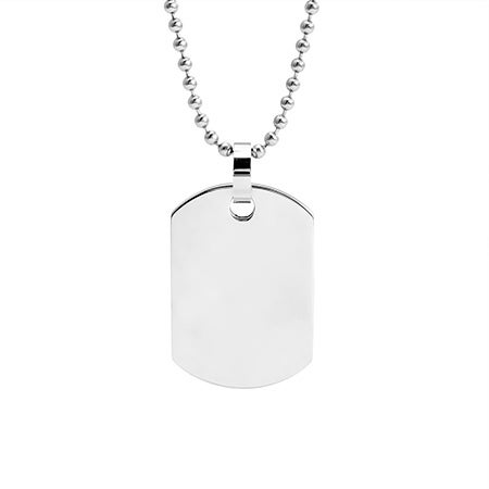 Engravable Medium Stainless Steel Dog Tag | Eve's Addiction