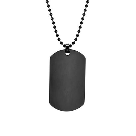 Large Black Dog Tag | Eve's Addiction®