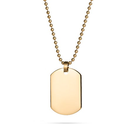 18K Gold Plated Small Dog Tag | Eve's Addiction®