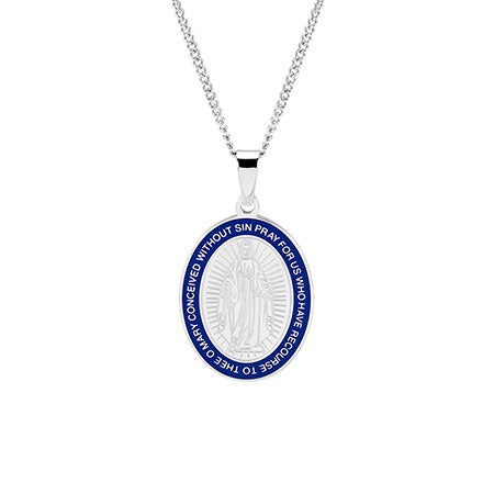 Stainless Steel Miraculous Medal | Eve's Addiction