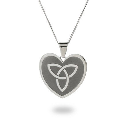 Engravable Celtic Knot Heart Necklace