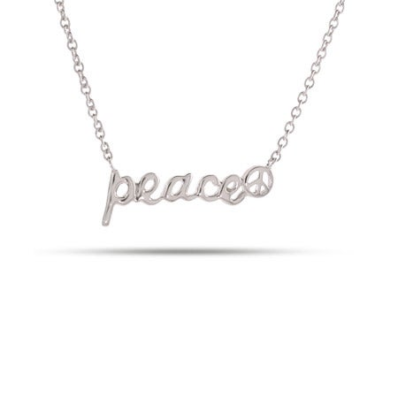 Sterling Silver Peace Necklace