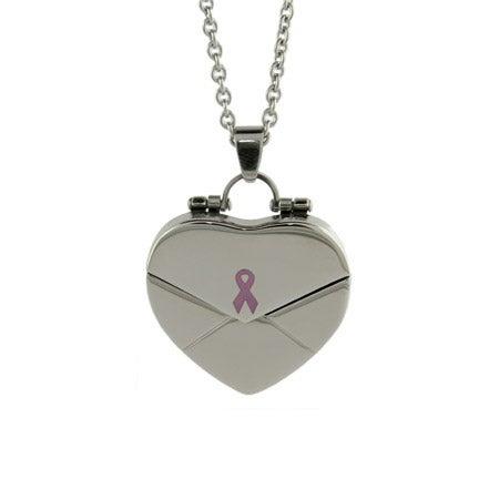 What Cancer Cannot Do Engravable Secret Message Heart Locket