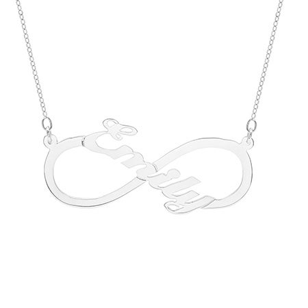 Custom Sterling Silver Infinity Name Necklace