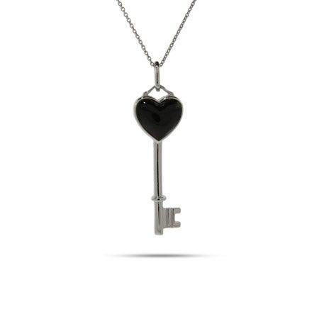 Onyx Heart Key Pendant | Eve's Addiction®