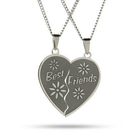 Engraved Best Friends Necklaces Set