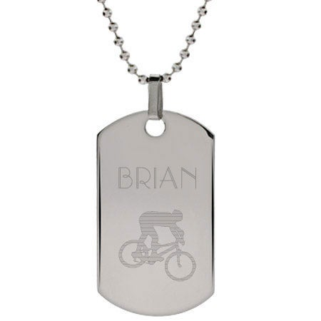 Engravable Extreme Sports Dog Tag Necklace