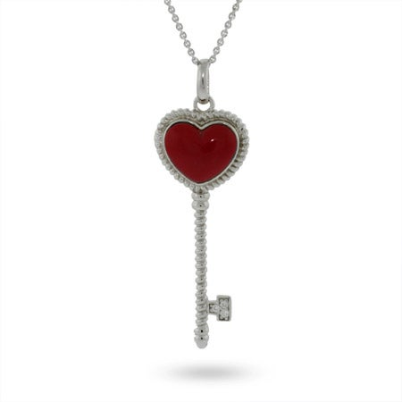 Heart Sterling Silver Key Pendant | Eve's Addiction