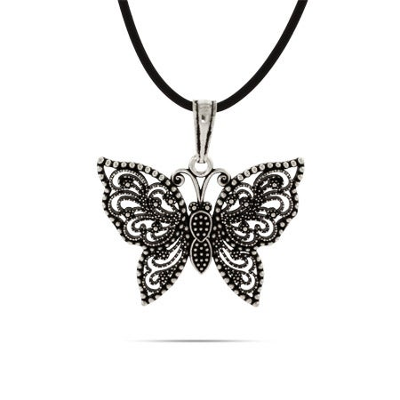 Sterling Silver Marcasite Butterfly Pendant