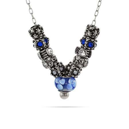 Oriana Bead Drop Chain Necklace
