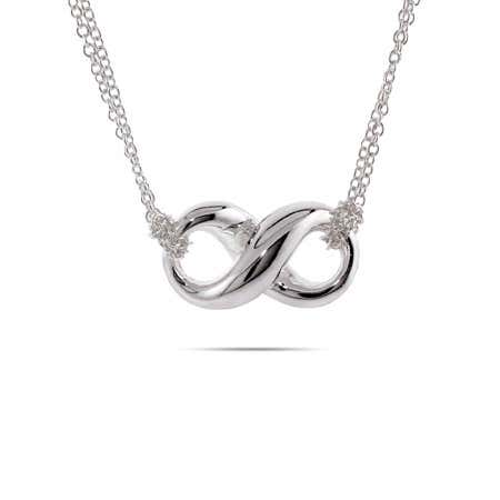 Designer Style Silver Infinity Necklace | Eve's Addiction®