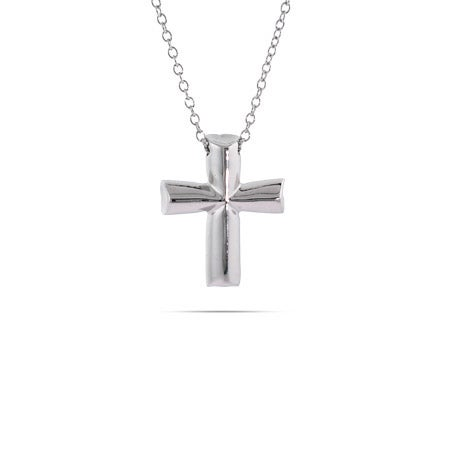 Tenderness Cross Sterling Silver Necklace