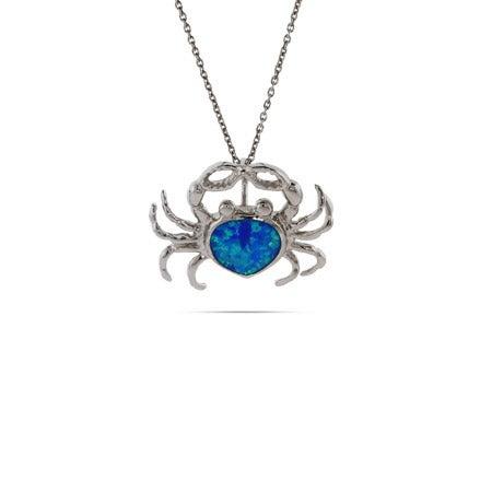 Opal Blue Crab Pendant   Eve's Addiction