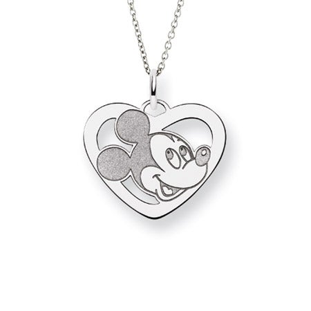 Mickey Mouse Heart Charm Necklace