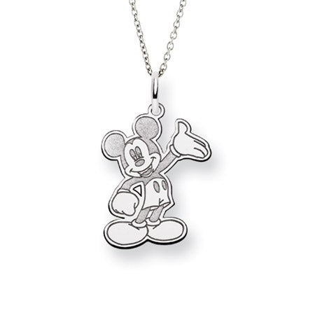 Sterling Silver Mickey Mouse Pendant